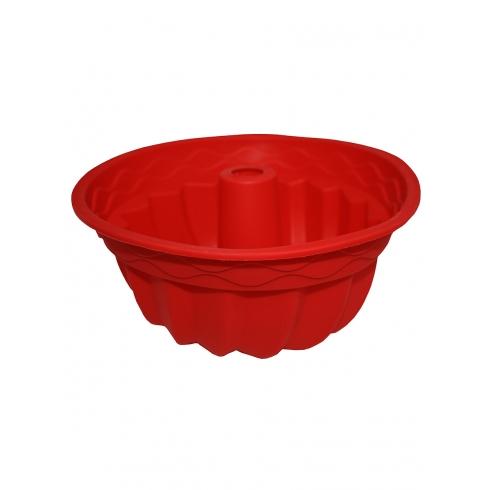 """Форма силиконовая """"Cake""""  красного цвета"""