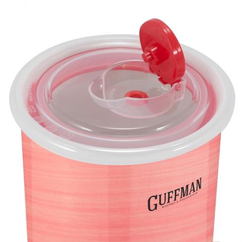 Набор контейнеров с вакуумной крышкой, розового цвета, 0,85 л, 0,6 л, 0,25 л