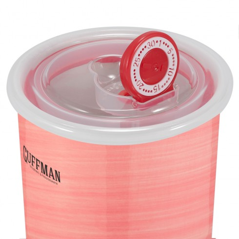 Керамическая банка 1 л с крышкой, розового цвета