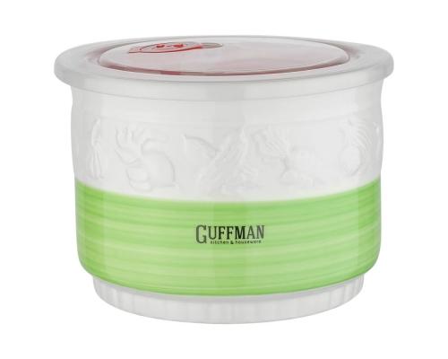 Зелёный контейнер 1,5 л c вакуумной крышкой, зеленого цвета