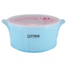 Керамический контейнер 2,2 л с вакуумной крышкой, голубого цвета