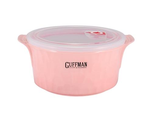 Керамический контейнер 2,2 л с вакуумной крышкой, розового цвета