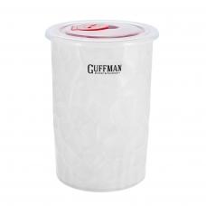 Керамический контейнер 0,6 л с вакуумной крышкой, белого цвета