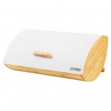 Хлебница из бамбука, белого цвета