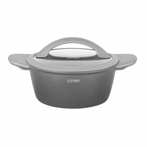 Набор посуды из алюминия 6 пр. 4,4 л/ 2,4 л / 1,3 л Stellar со стеклянными крышками