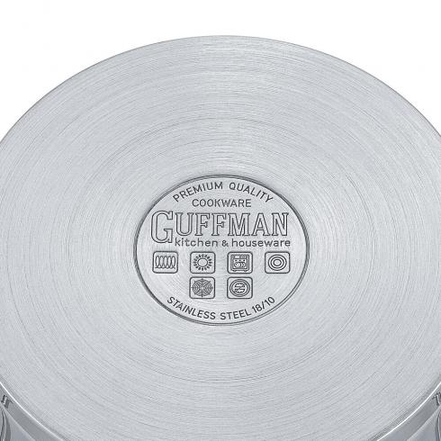 Кастрюля 20 см, 3,2 л Diamond со стеклянной крышкой и сатиновыми металлическими ручками, индукция
