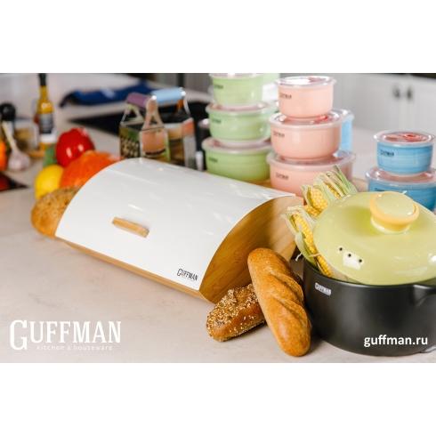 Хлебница Guffman из высококачественного бамбука белого цвета