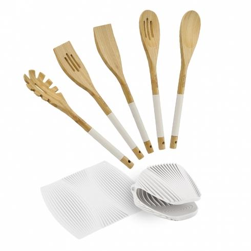 Ложка из бамбука, белого цвета