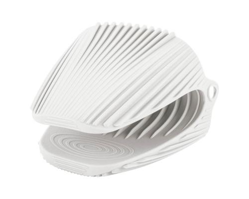 Прихватка силиконовая белого цвета