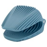 Прихватка силиконовая, голубого цвета