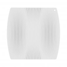 Коврик из плотного ребристого силикона, белого цвета