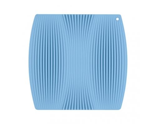 Коврик из плотного ребристого силикона, голубого цвета