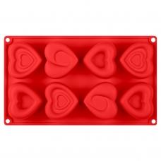 Форма для выпечки кексов Amore силиконовая, красного цвета