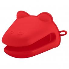 Прихватка силиконовая для печи, красного цвета