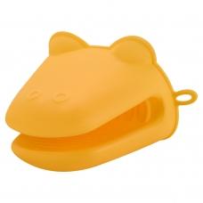 Прихватка силиконовая для печи, желтого цвета