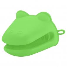 Прихватка силиконовая для печи, зеленого цвета