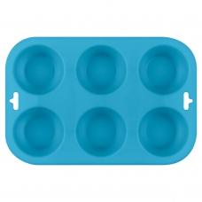 Форма для выпечки кексов силиконовая,голубого цвета