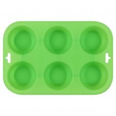 Форма для выпечки кексов силиконовая, зеленого цвета