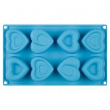 Форма для выпечки кексов Amore силиконовая, голубого цвета