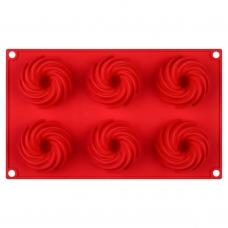 Форма для кексов силиконовая, красного цвета