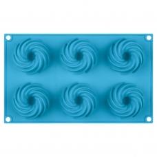 Форма для кексов силиконовая, голубого цвета