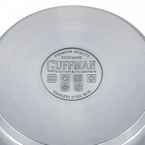 Кастрюля 20 см, 2,6 л Miracle со стеклянной крышкой и эргономичными ручками из нержавеющей стали, индукция