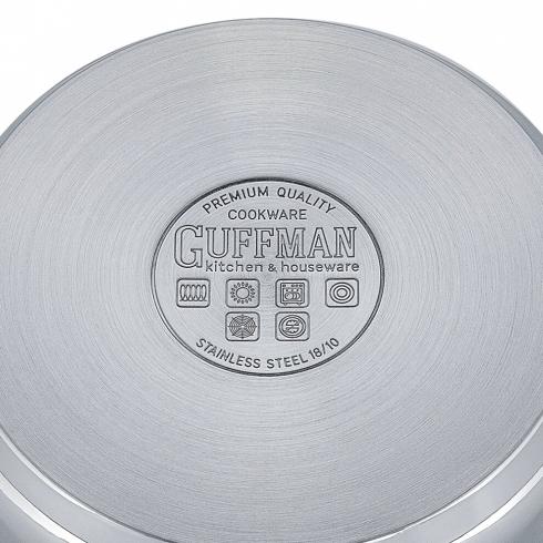 Кастрюля 20 см, 2,4 л Magnifique со стеклянной крышкой и заклепочными ручками из нержавеющей стали, индукция