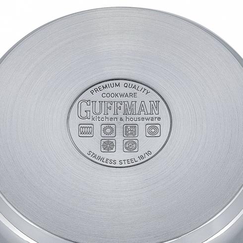 Кастрюля 22 см, 3,5 л Magnifique со стеклянной крышкой и заклепочными ручками из нержавеющей стали, индукция
