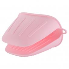 Прихватка силиконовая, розового цвета