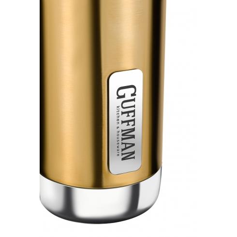 Термос 750 мл Sky с хромированными вставками, золотого цвета
