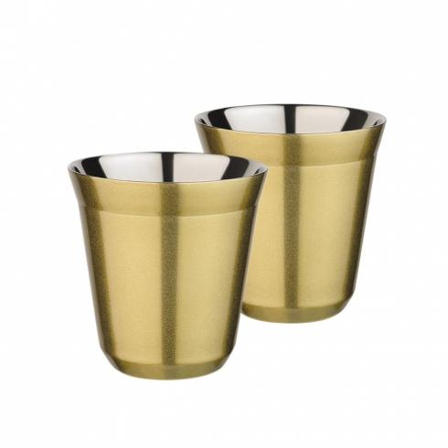 Термостаканы 160 мл Sky Cafe, 2 шт, золотого перламутрового цвета